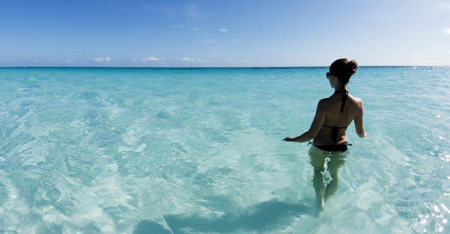 Aruba Badeferien ruhige Lagune auch für Kinder