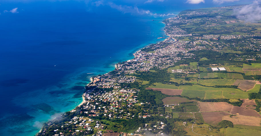 Barbados Reisetipps, Länderinformationen Luftaufnahme