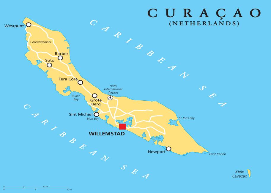 Curacao Karte Reise Schweiz buchen