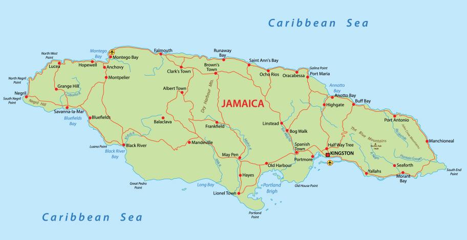 Jamaika Reisetipps Karte Übersicht