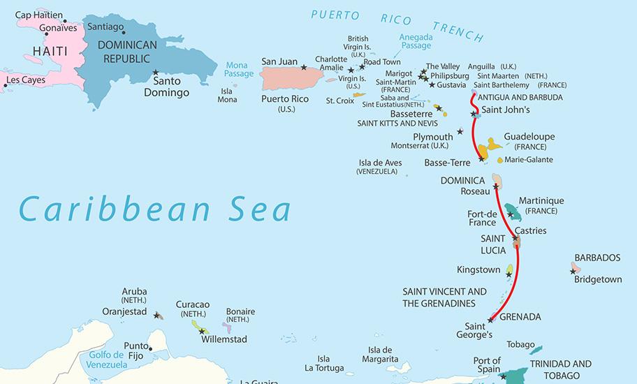 Karibik Inselhopping buchen Dom Rep Kuba Grenada
