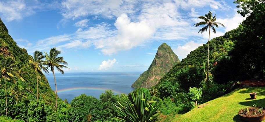 St. Lucia Naturerlebnisse Aussicht Meer