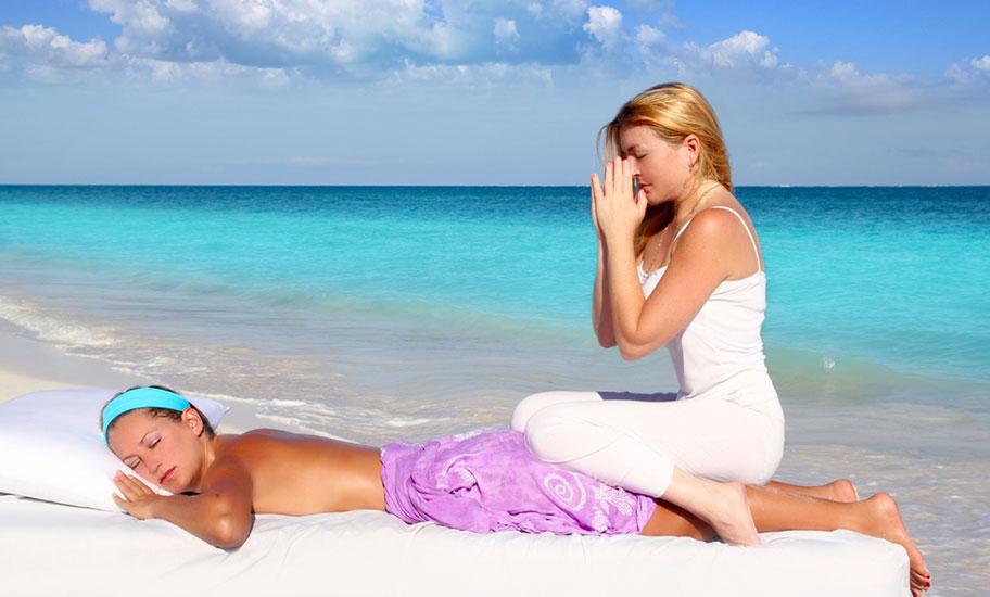 St. Lucia Wellness Massage Strand Flitterwochen